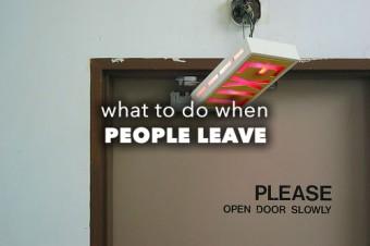People leave